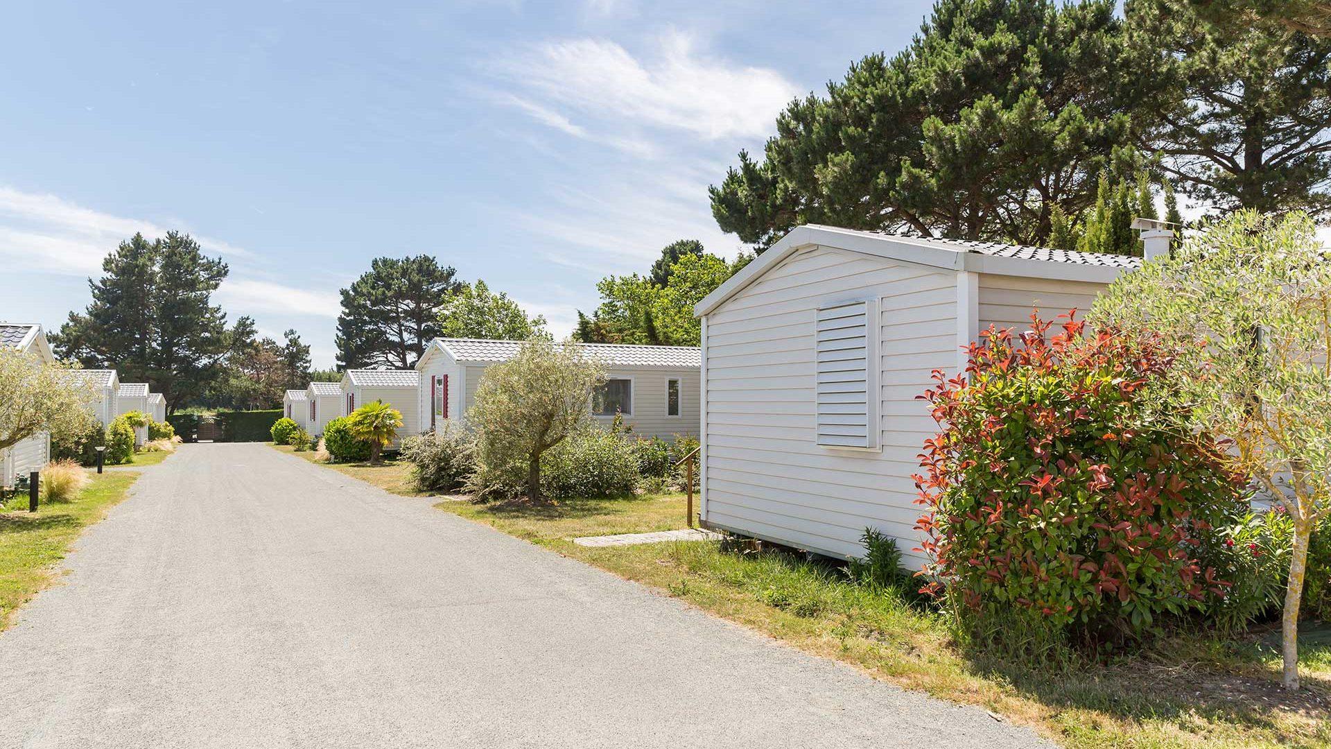 les hébergements du camping en Vendée